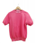 SLOANE(スローン)の古着「半袖ニット」|ピンク
