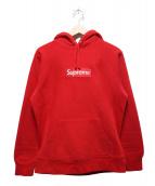 Supreme(シュプリーム)の古着「ボックスロゴフーデットスウェットシャツプルオーバーパーカー」|レッド