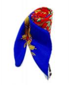 HERMES(エルメス)の古着「シルクスカーフ」|ブルー×イエロー