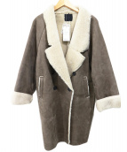 KBF(ケイビーエフ)の古着「ムートン風コート」|グレー