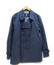 BLACK LABEL CRESTBRIDGE(ブラックレーベルクレストブリッジ)の古着「ショート丈トレンチコート」 ネイビー