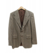 SOVEREIGN(ソブリン)の古着「シルク混チェックジャケット」|ベージュ