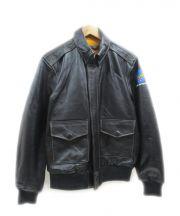 WILLIS&GEIGER(ウィリス アンド ガイガー)の古着「A-2フライトジャケット」|ブラック