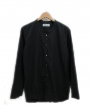 UNUSED(アンユーズド)の古着「ノーカラーシャツ」|ブラック