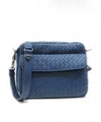BOTTEGA VENETA(ボッテガヴェネタ)の古着「ショルダーレザーバッグ」|ブルー