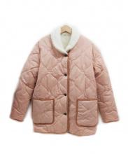 LEVI'S(リーバイス)の古着「ボアリバーシブルキルティングジャケット」|ピンク×ホワイト