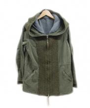 REMI RELIEF(レミレリーフ)の古着「フーデッドジャケット」|カーキ