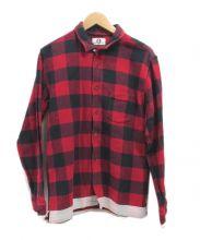 GOOD ENOUGH(グットイナフ)の古着「ブロックチェックネルシャツ」|レッド
