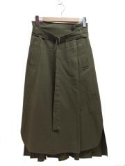 ADORE(アドーア)の古着「ハイコンパクトコットンスカート」|オリーブ