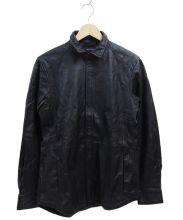 JOSEPH HOMME(ジョセフ オム)の古着「パンチングレザーシャツジャケット」