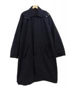 DESCENTE PAUSE(デサントポーズ)の古着「フード付ステンカラーコート」|ブラック