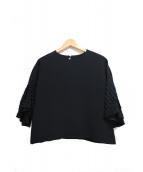 UNITED TOKYO(ユナイテッドトウキョウ)の古着「フレアスリーブブラウス」|ブラック