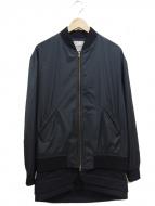 Casely-Hayford(ケイスリー ヘイフォード)の古着「ロング丈ノーカラージャケット」