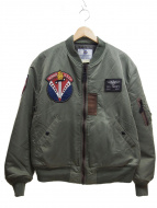 TED COMPANY(テッド カンパニー)の古着「ワッペンMA-1ジャケット」|カーキ