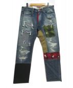 CUNE(キューン)の古着「パッチワークデニムパンツ」