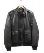 DURBAN(ダーバン)の古着「A-2ラムレザージャケット」|ブラック