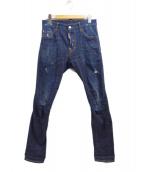 DSQUARED2(ディースクエアード)の古着「デニムパンツ」|ネイビー