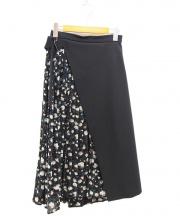 CLANE(クラネ)の古着「切替スカート」|ブラック