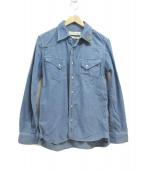 REMI RELIEF(レミレリーフ)の古着「スタッズコーデュロイシャツ」