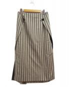 ADORE(アドーア)の古着「シャンブレーストライプスカート」