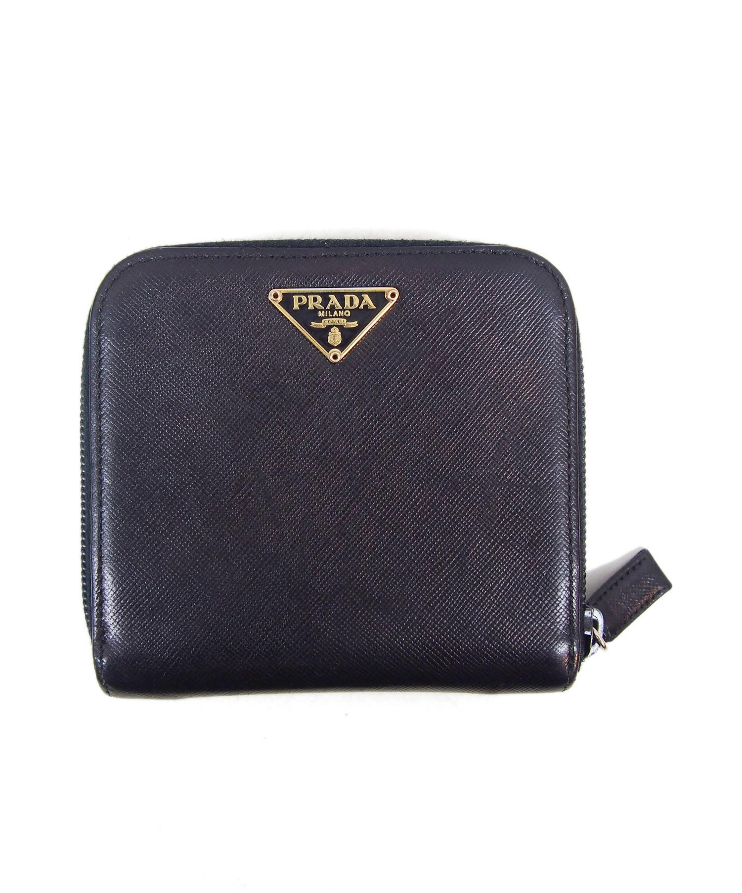 wholesale dealer 26a79 53e1d [中古]PRADA(プラダ)のレディース 服飾小物 ラウンドジップ2つ折り財布