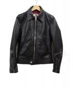 Lewis Leathers(ルイスレザー)の古着「シングルライダースジャケット」|ブラック
