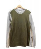 Martin Margiela14(マルタンマルジェラ14)の古着「長袖カットソー」|グリーン×グレー
