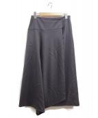 BALLSEY(ボールジィ)の古着「ウールサテン アシンメトリースカート」