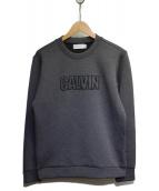 Calvin Klein PLATINUM(カルバン・クライン プラティナム)の古着「ボンディングスウェット」 グレー