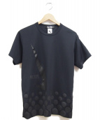 BLACK COMME des GARCONS × NIKE(ブラックコムデギャルソン×ナイキ)の古着「ビッグスウェッシュTシャツ」|ブラック