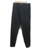 YOHJI YAMAMOTO(ヨウジヤマモト)の古着「タックテーパードパンツ」|ブラック