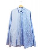 DRESSEDUNDRESSED(ドレスドアンドレスド)の古着「ロングストライプシャツ」 ブルー