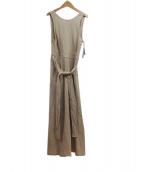 UNGRID(アングリッド)の古着「リネン混バックオープンワンピース」|ベージュ