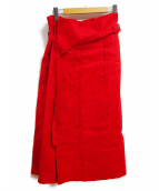 ADORE(アドーア)の古着「麻レーヨンストレッチスカート」|レッド