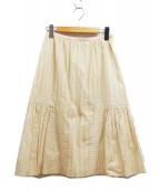 mina perhonen(ミナ ペルホネン)の古着「切替スカート」|ベージュ