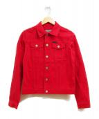 Calvin Klein Jeans(カルバンクラインジーンズ)の古着「デニムジャケット」|レッド