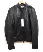EMMETI(エンメティ)の古着「シングルレザージャケット」|ブラック