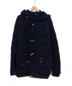 BARK(バーク)の古着「中綿入りニットジャケット」|ネイビー
