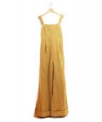 CASA FLINE(カーサフライン)の古着「バックタイベアオールインワン」|ベージュ