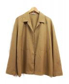 AURALEE(オーラリー)の古着「WOOL SILK TROPICAL SHIRTS JACK」|ベージュ