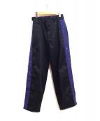 MYne×DICKIES(マイン×ディッキーズ)の古着「Side Snap Wide Pants」|ブラック
