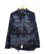 SURT(サート)の古着「ネルシャツ」|ネイビー