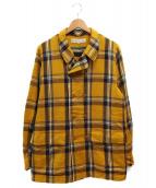 HAVERSACK(ハバーザック)の古着「ダブルフランネルシャツ」|イエロー