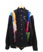 cotemer(コートメール)の古着「リメイクシャツ」|ブラック