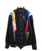 cotemer(コートメル)の古着「リメイクシャツ」 ブラック