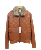 EMMETI(エンメティ)の古着「レザージャケット」|ブラウン