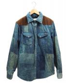 Denim & Supply Ralph Lauren(デニムアンドサプライ ラルフローレン)の古着「中綿転写シャツジャケット」|ブルー