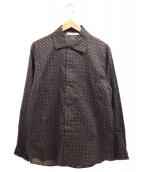 EFILEVOL(エフィレボル)の古着「柄シャツ」|ブラウン