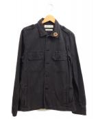 REMI RELIEF(レミレリーフ)の古着「スタッズミリタリーシャツ」|ブラック