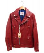 JAMES GROSE(ジェームス・グロース)の古着「ライダースジャケット」|レッド